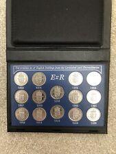 More details for 1953-1966 complete set of elizabeth 11 english shillings