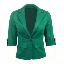 Summer Jacket Slimming Womens Unbranded Stylish Ladies Crop Blazer Sz 12 Green 6