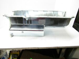 CHAMP PANS STEEL SB CHEVY OIL PAN DRAGRACING 1 PIECE REAR MAIN SBC