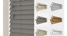 Made to Measure Faux Wood PVC Venetian Blind (35 or 50mm Slats) Assorted Colours