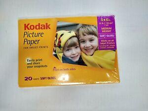Kodak Picture Paper Inkjet 20 Sheets Soft Gloss Print on Both Sides-NIB 51lb 7ml