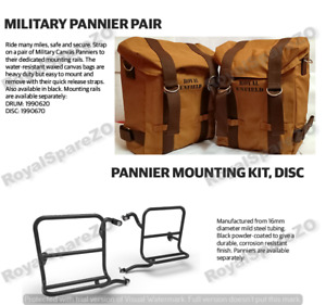 Royal Enfield Desert Color Military Pannier & Fitting Fit For Classic 350 & 500