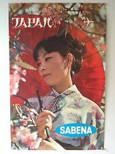 COLLECTION AFFICHE  POSTER PUBLICITAIRE ANCIENNE TRAVEL SABENA - Japan
