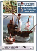 Schreiber-Bogen Card Modelling The Columbus Ship Santa Maria 1:100