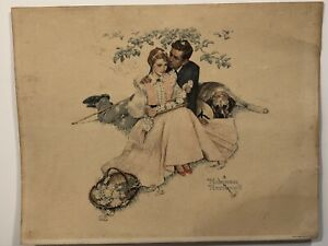 Vintage 1955 Norman Rockwell Flowers in Tender Bloom, original lithograph