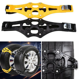 1X Snow Ice Tire Chain Anti-Skid Road Grip Emergency Car Truck Wheel Accessories