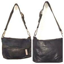 New Kenneth Cole N.Y. Black Motorway Soft Camera Shoulder Bag/Purse 100% Leather
