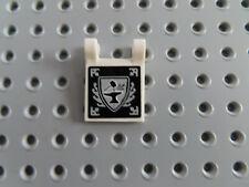 LEGO 2 x bandiera ALT 2335ps1 GRIGIO CHIARO 2x2 Bedr SW carattere 7171