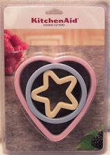NEW Set 3 KitchenAid Soft Grip Shaped Cutters - Heart, Circle & Star