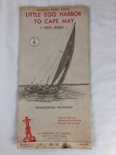 Vintage Nautical Map Chart Little Egg Harbor To  Cape May NJ January 1965 826-SC