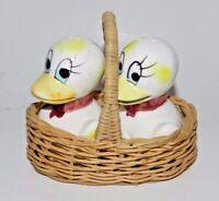 Vintage Salt & Pepper Shakers - Ducks in a Basket