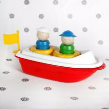 NEW Tupperware Canoe Boat Tupper Bath Toy 2 People Red and White