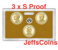 2016 S Presidential Dollars Nixon Ford Reagan PROOF 3 Coin New US Mint Set 16p3