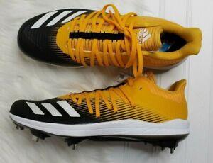 adidas Men's adizero Afterburner 6 Metal Baseball Cleats Yellow/Black Sz 9.5 New