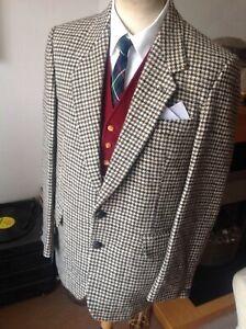 "Vintage Dunn & Co Houndstooth Harris Tweed Sports Jacket 42"" reg"