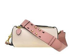 Burberry Barrel Crossbody Belt Bag Beige Leather New