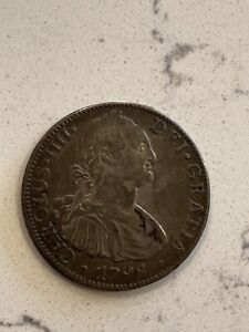 1798 MO FF Mexico 8 Reales OFFER Silver Coin El Cazador Spanish SHIPWRECK Pirate