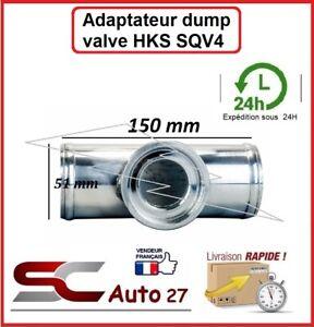 T en alu adaptateur dump valve type HKS SQV4 51 MM de diamètre