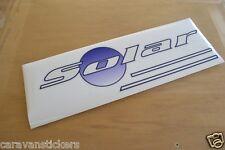 LUNAR Solar - (STYLE 4) - Caravan Roof Sticker Decal Graphic - SINGLE