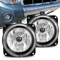 For 05-07 Ford Escape/02 Lincoln LS LH/RH Clear Fog Lights Driving Lamp Assembly