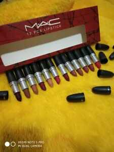 SET OF 12 X MAC LIPSTICKS IN DIFFERENT SHADES//100% ORIGINAL//PROPERLY SEALED