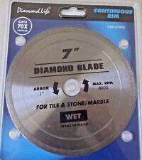 "DIAMOND LIFE 7"" INCH DIAMOND WET SAW BLADE MARBLE TILE STONE 1"" ARBOR"
