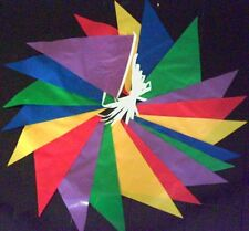 MULTI COLOURED BUNTING red blue yellow green etc 30mt PVC FLAGS 98 FOOT * FETES
