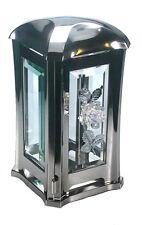 Grablaterne AS0500 mit Rose aus Edelstahl matt, Grablampe Grablicht Grabschmuck