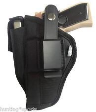 Black Nylon Gun Holster for Smith & Wesson M&P 45 Protech Size WSB-7
