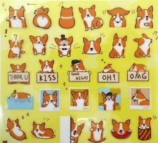 Japanese Corgi stickers! Kawaii dog puppy cute planner stickers emoji animal