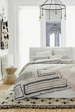 Anthropologie Zonda Queen Duvet Cover with 2 Standard and 2 Euro Shams