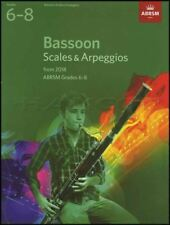 Bassoon Scales & Arpeggios from 2018 ABRSM Grades 6-8 Sheet Music Book