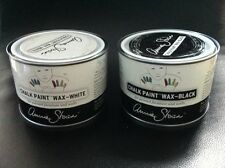 Annie Sloan Wax for Chalk Paint- latest finish-tin of each-White Liming & Black