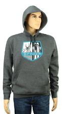 """SPYDER Long Sleeve Hooded Polar Sweatshirt (Hoodie) Mens Medium 21""""ptp Grey"""
