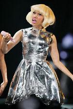 Nicki Minaj 11x17 Mini Poster in concert with silver costume