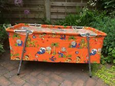 More details for vintage retro 60's 70's travel cot/toy storage or great prop