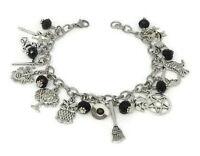 Gothic Witch Charm Bracelet - Witch Jewelry - Halloween Bracelet