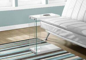 Monarch Specialties Tempered Glass Accent Table New