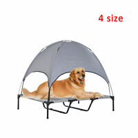 PawHut Elevated Pet Bed Dog Foldable Cot Tent Canopy Instant Shelter Outdoor