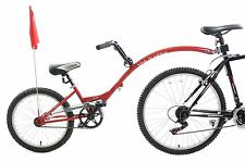 "Ammaco Tagalong Towaway Tandem Kids Folding Trailer Bike 20"" Wheel Red 5-9 Years"