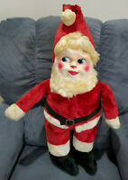 "Vintage Circa 50s Santa Claus Blow Mold Face Plush Suit Christmas 29"" Tall"
