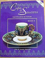 VINTAGE CUPS SAUCERS VOL 2 PRICE GUIDE COLLECTORS BOOK plus mustache cups