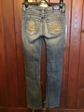 VICTORIA BECKHAM BLUE DENIM JEANS SIZE 26 MADE IN THE USA