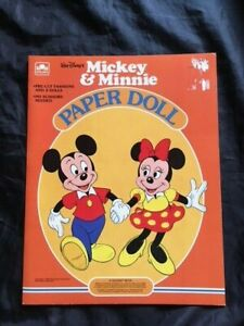 Vintage Mickey and Minnie Paper Dolls,  1983, UNCUT