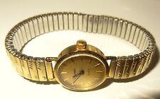 Damen Armband-Uhr Gold Metall KAREX QUARZ Glieder-Armband Vintage Fixo-flex