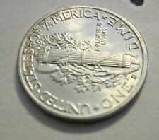 1944- D Mercury Dime with  split bands, uncirculated, made in Denver