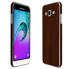 Skinomi TechSkin - Dark Wood Skin & Screen Protector for Samsung Galaxy J3