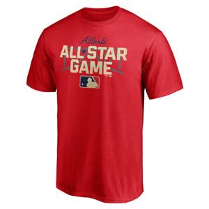 Men's Red 2021 MLB All-Star Game Vertical T-Shirt