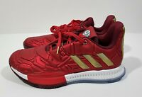 Adidas Harden Vol. 3 Marvel Iron Man Youth Basketball Shoes Red Gold Size 4Y