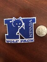 "Nevada Wolf Pack Wolfpack Vintage Embroidered Iron On Patch  2.5"" X 2"""